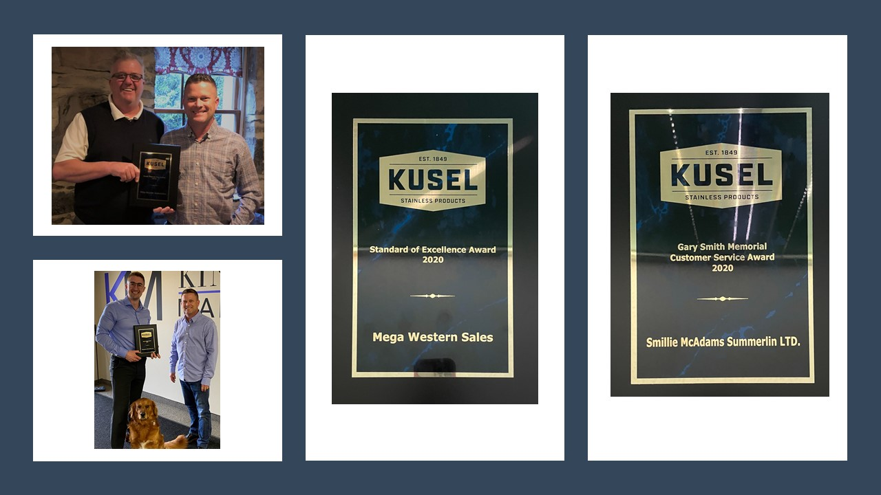 KUSEL ANNOUNCES DRAIN SALES AND SERVICE AWARDS