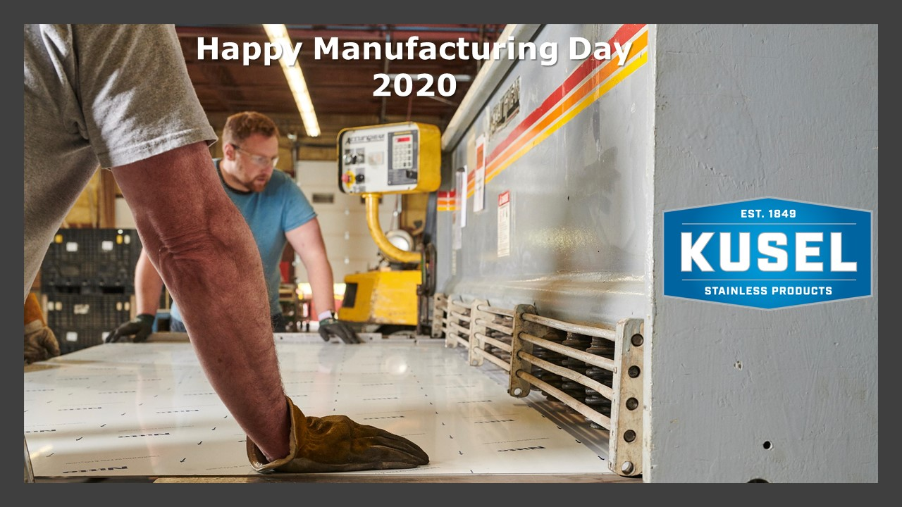 HAPPY MANUFACTURING DAY 2020